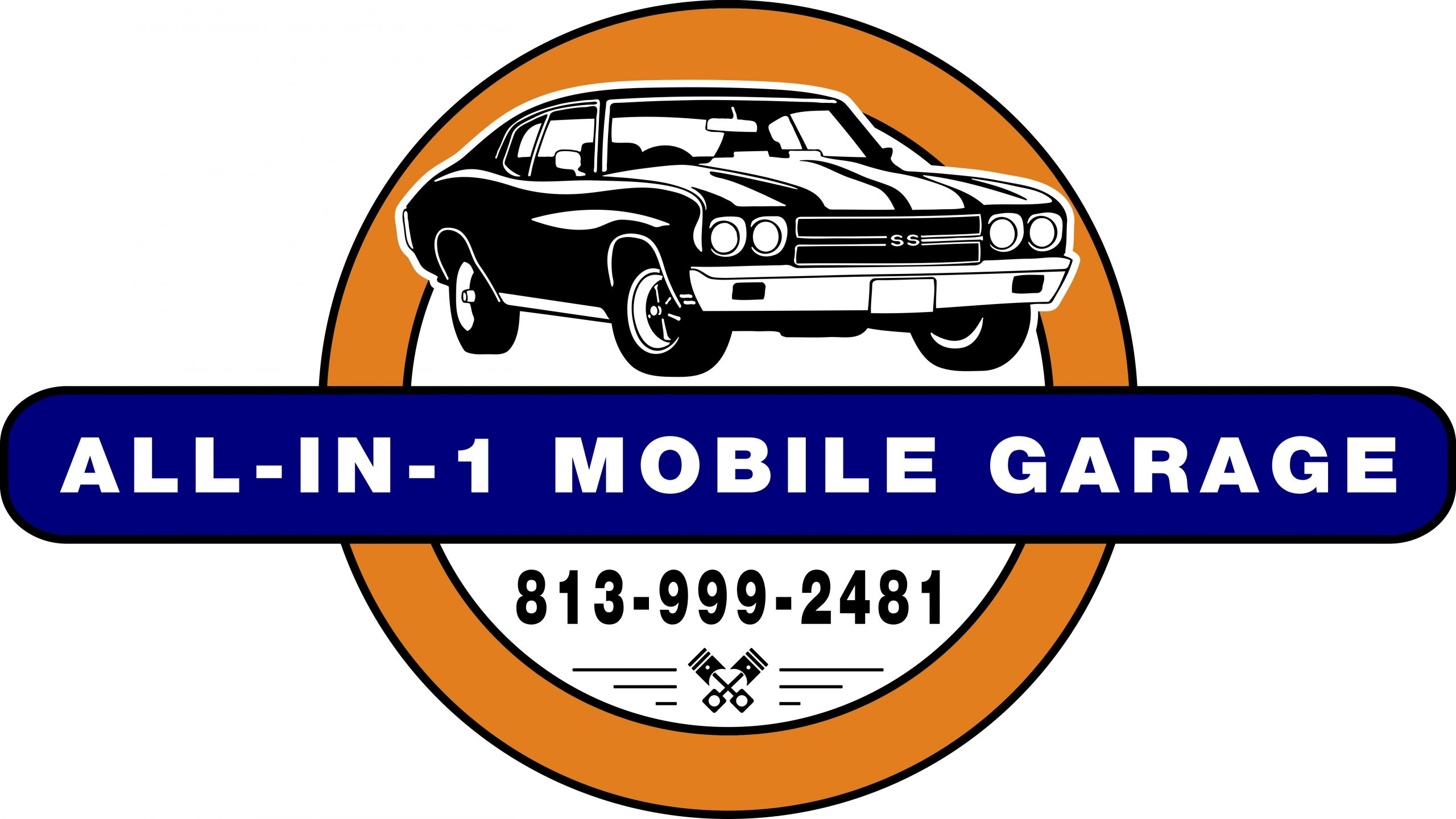 ALL-IN 1 Mobile Garage logo, we Come to You in Wesley Chapel and surrounding areas.